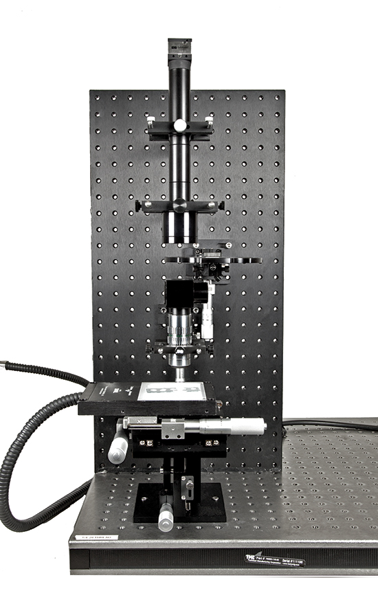 Sample Fluorescence Microscope Setup